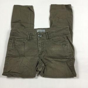 Wit & Wisdom Brown Green Skinny Pants Womens 8